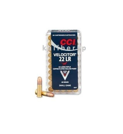 22LR CCI Velocitor 40gr/2,59g Copper-Plated HP, 50 ks