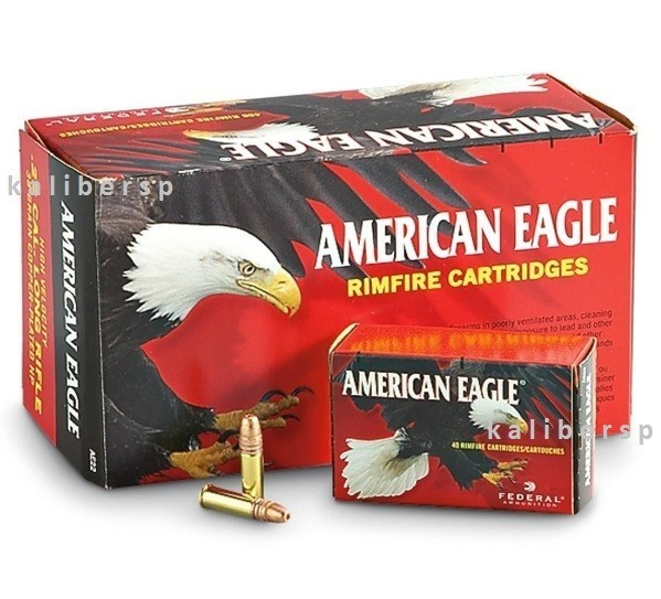 American Eagle .22LR 38gr/2,46g Copper-Plated HP