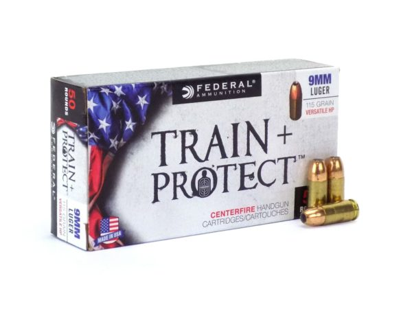 9mm Luger Federal Train+Protect 115gr/7,45g Versatile HP